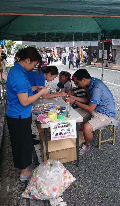 野毛ジャズde盆踊り2016 武松商事 空き容器 リサイクル楽器