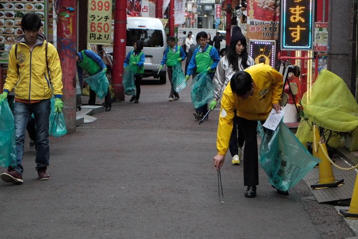 キリンビールマーケティング株式会社 フジタ株式会社 中華街合同清掃活動