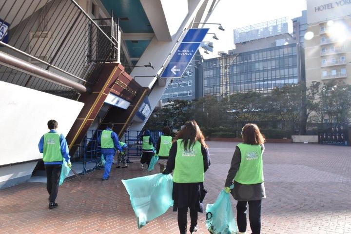 清掃活動 横浜スタジアム