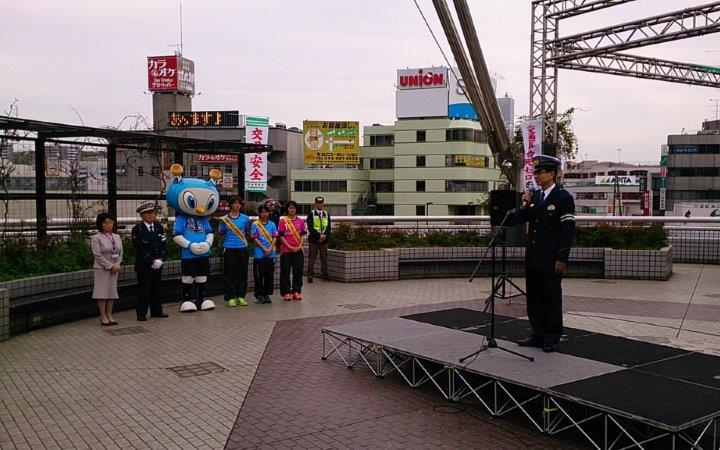 ニッパツ横浜シーガルズ 出口春奈選手 戸塚警察署 交通安全イベント