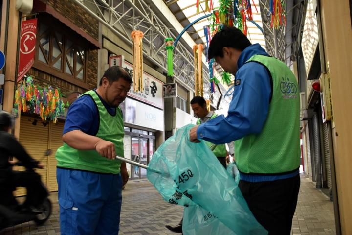 第106回清掃活動 弘明寺商店街