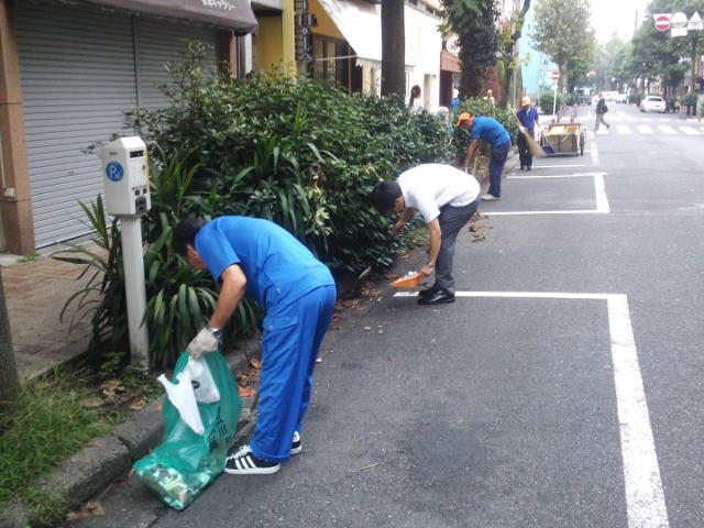 清掃活動 住吉町 2015年9月2日