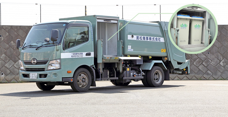 保冷機能付き食品リサイクル対応車両